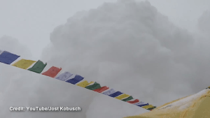 Dramatic video captures avalanche hitting Mount Everest Base Camp