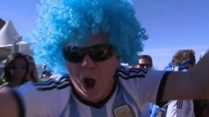 Argentina fans celebrate semifinal spot after 1-0 win over Belgium
