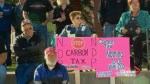 Protesters in Lethbridge voice frustration over NDP carbon levy