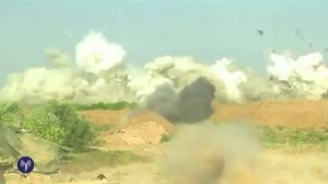 Video footage of Israeli troops destroying Hamas tunnel