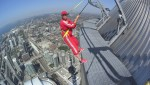 Global's Kim Sullivan does the CN Tower EdgeWalk