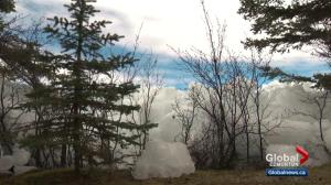 Ice shoves display Mother Nature's power in central Alberta
