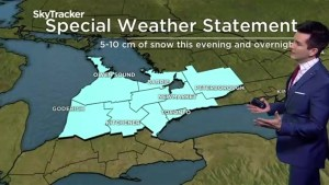 Special weather statement issued for southern Ontario