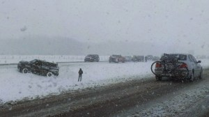 Spring snow leads to crashes on Alberta highways