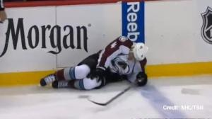 Wild forward Matt Cooke injures Avs defender Tyson Barrie with questionable hit