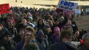 Protest calls on Mayor Ford to resign