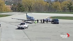Raw video: Alleged terror suspect at Buttonville airport