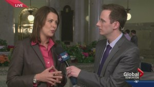 Wildrose leader Danielle Smith speaks about Alberta Budget 2014