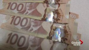 Loonie losing ground
