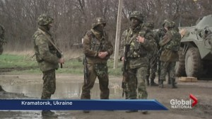 Shots fired in eastern Ukraine