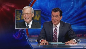 Colbert honoured to be taking over for Letterman