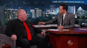 Jimmy Kimmel shows concern for Rob Ford's drinking and drug use