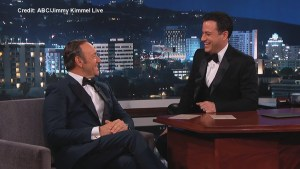 Actor Kevin Spacey jokes about sharing a dressing room with Rob Ford