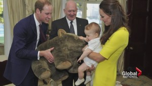 Royals land in Australia
