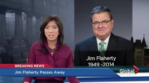 Former federal finance minister Jim Flaherty dies