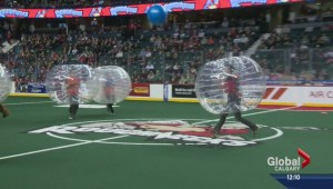 Bubble Ball match at the Saddledome