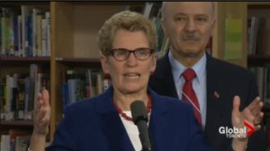 Wynne says spending millions for job creation is a necessary investment