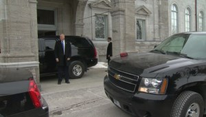 Raw video: Stephen Harper departs Rideau Hall