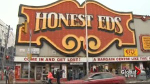 Honest Ed's sign sale draws thousands