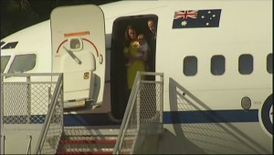 Royal couple arrive in Sydney