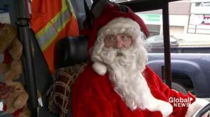 Santa suit banned from bus