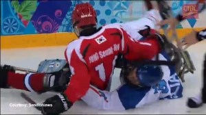 Tempers flare in sledge hockey game at Paralympics