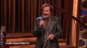 Ron Burgundy sings his campaign theme song for next election
