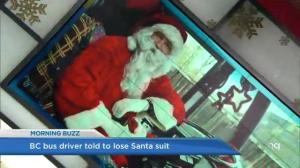 Burnaby bus driver not allowed to wear Santa suit to work