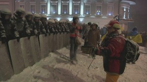 Situation tense in Ukraine as police surround protesters