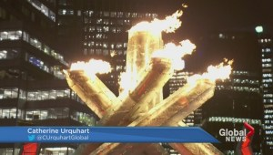 Olympic cauldron burns again