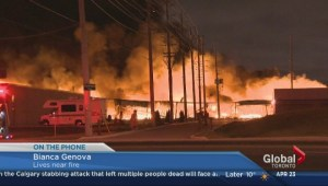 Witness describes the scene of an industrial fire