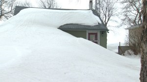 Massive snowbanks cover Twin Lakes properties