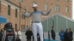Golf star Graham DeLaet puts on a show for Shaw