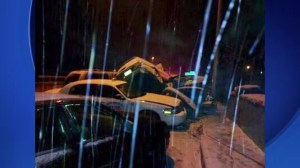 Severe weather causes 30 car pile-up in Bronx