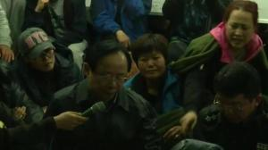 Raw video: Irate family members of Korean ferry disaster victims demand answers