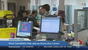 Most Canadians see job as work, not career
