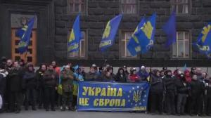 Raw video: Protests continue in Ukraine against President Viktor Yanukovych