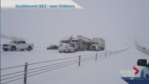 Heavy snow creates highway havoc