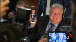"Mayor Rob Ford readies himself for a ""rumble in the jungle."""