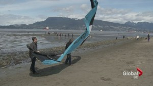 Spanish Banks kite surfing pilot project