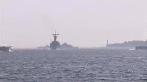 Raw video: US warship heads through Bosphorus Strait towards Ukraine
