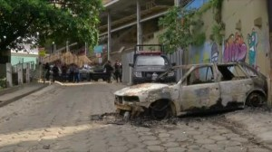 Aftermath of violence in Rio favela following the killing of local man