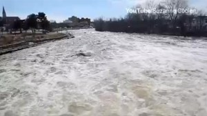 Raw video: Moira river overflowing in Belleville