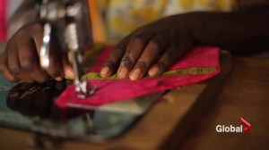 Canadian woman teaches sewing to Rwandan genocide survivors