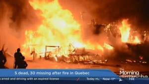 Search in Quebec fire continues