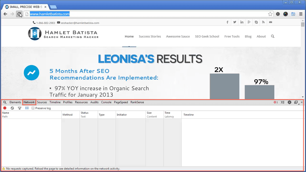 Redirect WWW to Non-WWW on Apache Step 1 - Open Homepage