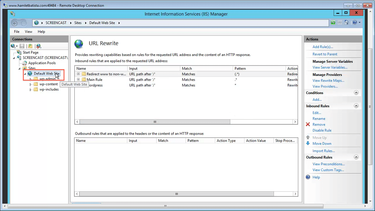Redirect WWW to Non-WWW on IIS Step 32 - Close URL Rewrite Module