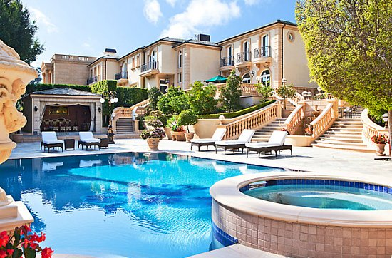 More beverly hills mega mansions house of ana s - Indoor swimming pools in los angeles ca ...