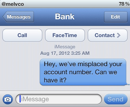 Bug SMS iphone iOS truffa