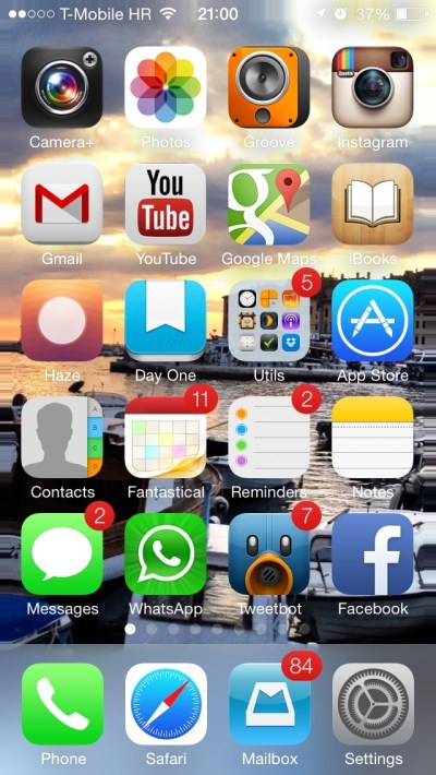 New in iOS 7: dynamic and panoramic wallpapers